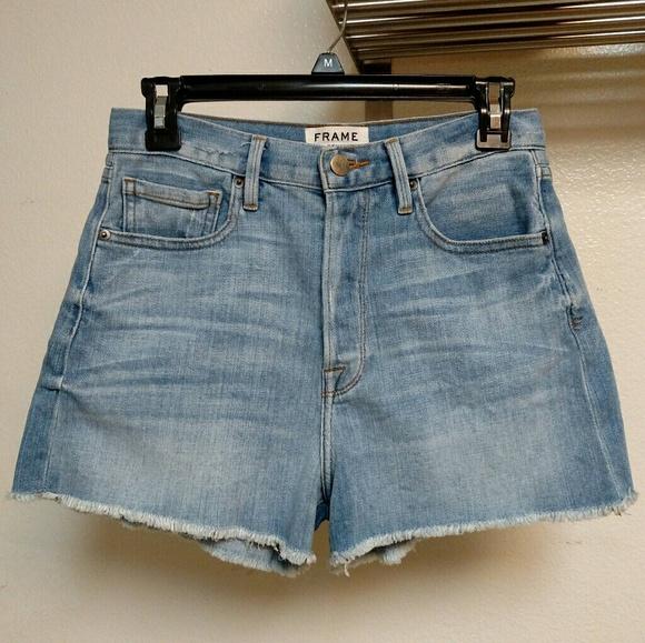 4fecb7d279 Frame Denim Pants - FRAME DENIM Le Original High-Waisted Cut Off Short